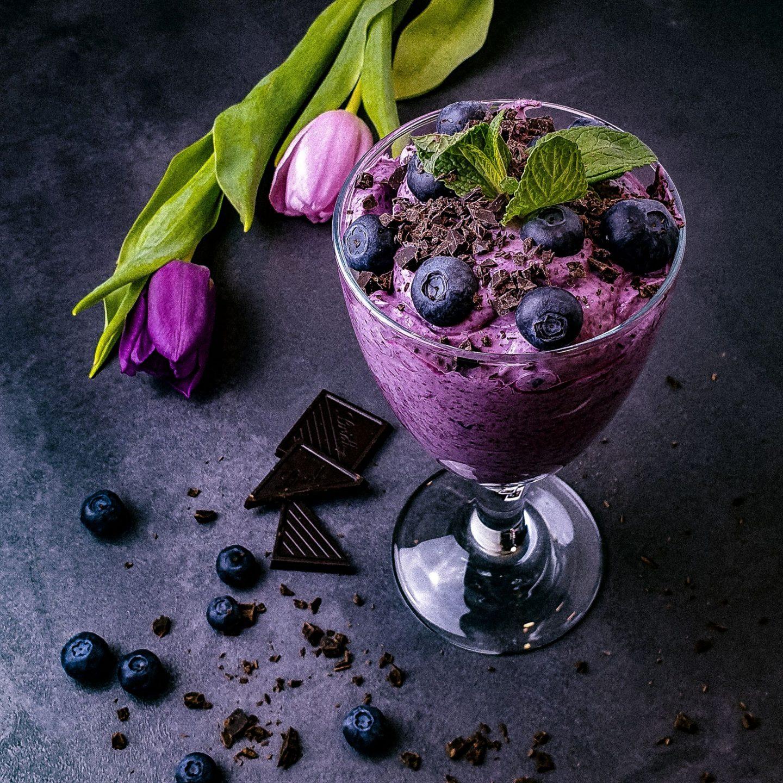 Joghurt mit Heidelbeeren