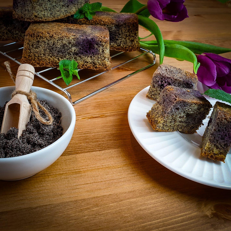 Mohn-Blaubeer Mini Kuchen