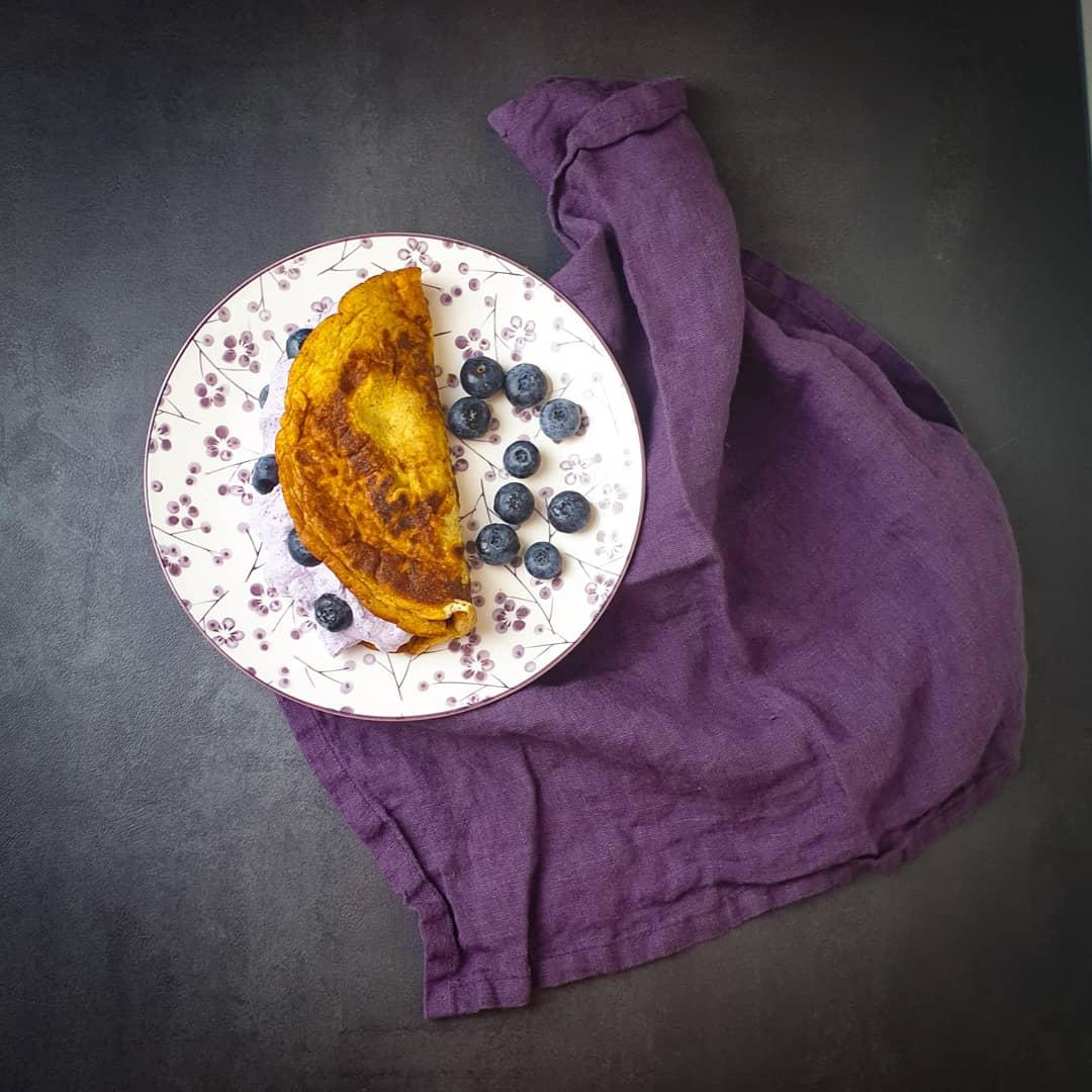Gefüllte süße Pfannkuchen