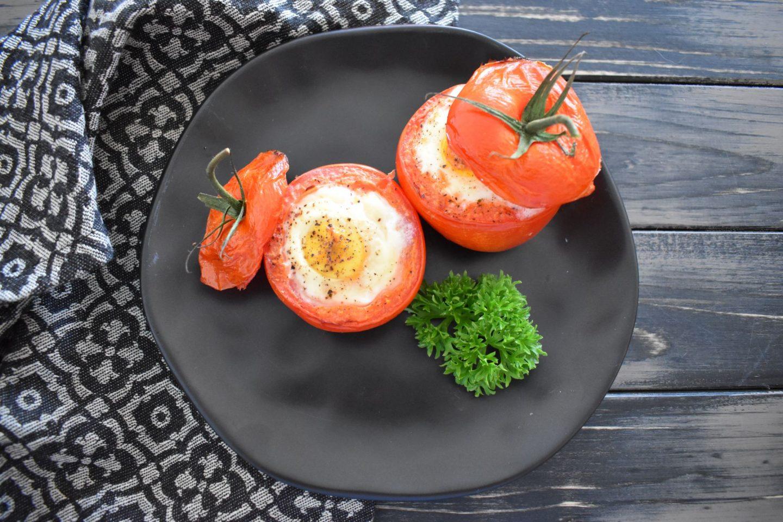Gebackenes Tomaten-Ei